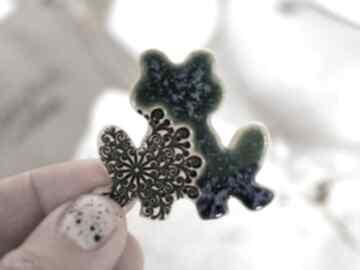 Ceramiczna żabka - magnes na lodówkę magnesy fingersart