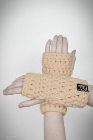 Rękawiczki 24 - żółte laczapakabra mitenki, rękawiczki, upominek