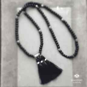 Naszyjnik boho czarno srebrny naszyjniki bead story boho