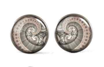 Ośmiornica kolczyki sztyfty wkrętki spirala prezent ręcznie