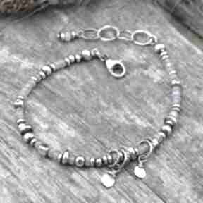 Surowa srebrna bransoletka z tanzanitem 159 grey line project