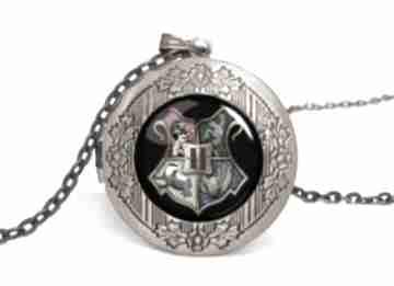 Hogwart sekretnik łańcuszkiem harry potter tarcza prezent ręcznie