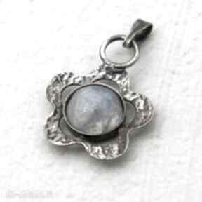 A191 księżycowa stokrotka -srebrny wisiorek wisiorki artseko
