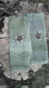 rękawiczki! Mitenki ombre w zieleniach