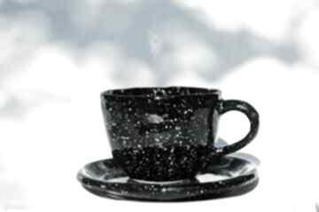 Kubek galaktyczny jumbo z talerzykiem kubki ceramicznosci galaxy