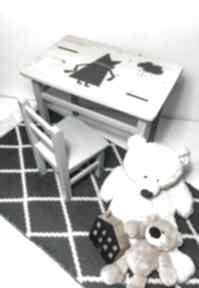 Meble dziecięce stolik i krzesełko lisek grafit pokoik dziecka