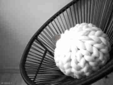 Poduszka 100% wełna merynosów chunky pillow poduszki wool and