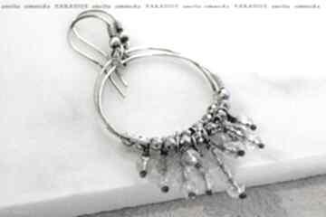 Srebro kolczyki fasetowane kryształy górskie anetta zimnicka