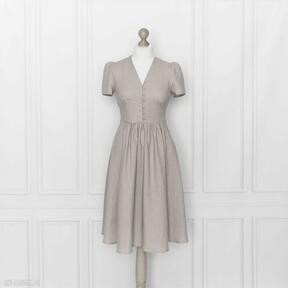 Rosalia sukienka lniana, różowa sukienki marttiditte sukienka