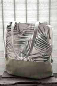 Worek na ramię - palmy happyart wiosna lato, worek, torba