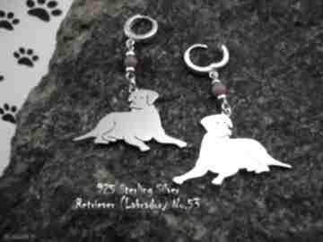Labrador srebro próby 925 kolczyki nr 53 frrodesign labrador