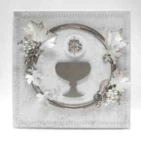 Pierwsza komunia - kartka i pudełko zaproszenie marbella