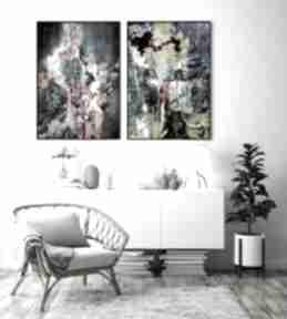 Zestaw 2 plakatów abstrakcja #9 30x40 cm hogstudio abstrakcja