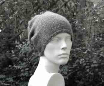 Unisex przejściowa czapka bawełna merino czapki aga made by hand