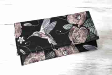 Kopertówka - maki i koliber torebki niezwykle elegancka