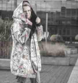 Twarze oversizowy płaszcz z tkaniny wodoodpornej m płaszcze