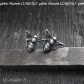 Wspomnienie lata kolczyki ze srebra szarotka srebro, oksydowane