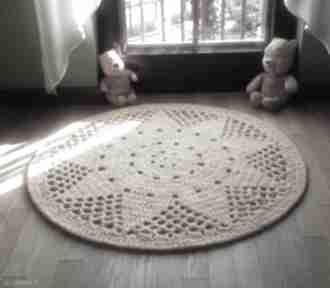 Dywan słoneczko artedania szydełkowy, okrągły, do pokoju dziecka