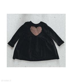 Sukienka dla dziewczynki czarna slow village dziewczynki