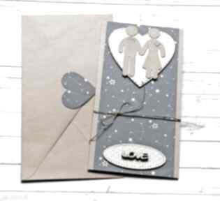 kaktusia kartka ślubna: ludziki: gwiazdy