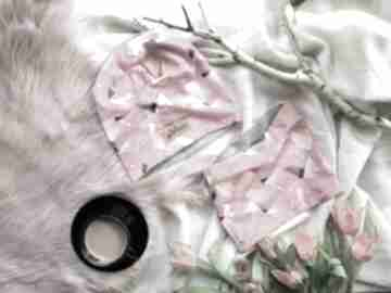 Różowa galaktyka czapka i komin beanie czapki godeco czapka