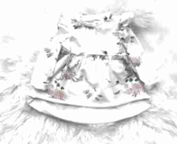 Sukienka dla dziewczynki kwiatuszki slow village dziewczynki