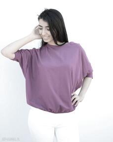 Szeroka luźna bluzka nietoperz oversize fioletowa bluzki
