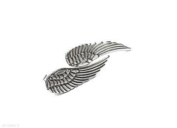 Angel - sztyfty katia i krokodyl skrzydła, srebro