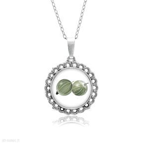 Medalion okrągły mały z grafiką agrest naszyjniki laluv prezent