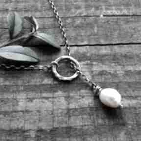 Naszyjnik przekładany z perłą - srebro 925 naszyjniki cocopunk