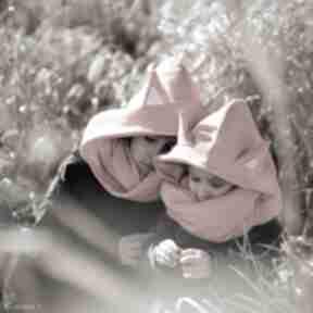 Komin z kapturem dla dziecka - lisek zabawki joanka lis, lisek