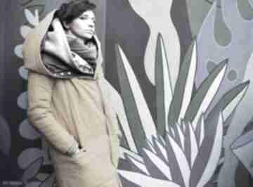 płaszcze. kurtka-oversize kurtka-zimowa żółta-kurtka