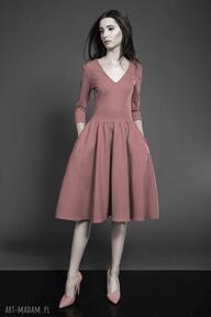 Rozkloszowana sukienka midi sukienki kasia miciak design