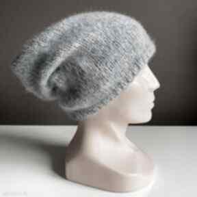 Ręcznie robiona czapka mgła hand made alpaka air 10 czapki
