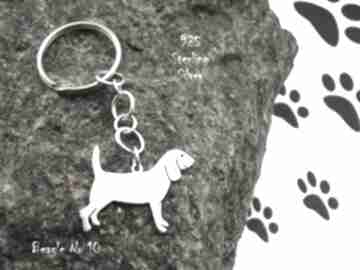 Beagle srebro próby 925 brelok nr 10 breloki frrodesign beagle
