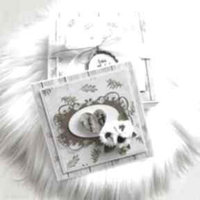 Kartka na ślub lub rocznicę - w pudełku scrapbooking kartki po