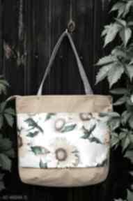 na ramię. torba worek kwiatowa prezent wiosna-lato