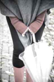 Mitenki czerwone rękawiczki hermina wełniane, damskie rękawiczki