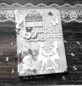 scrapbooking notesy! Stylowy paryski notatnik /pamiętnik vintage