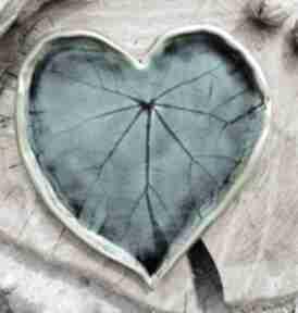 Ceramiczne serce, talerz, patera c232 ceramika shiraja biała