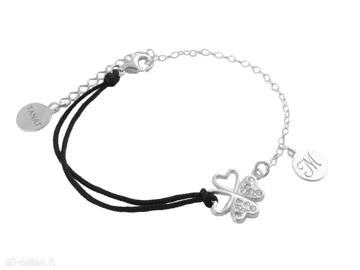 Pracownia Tanat. sznurkowa srebrna bransoletka personalizowana