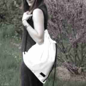 Worek plecak biały wodoodporny godeco worek, plecak, wycieczka