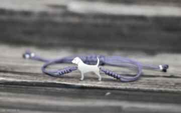Beagle - bransoletka srebro 925 pasja i pedzlem beagle, pies