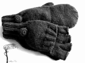 Bezpalczatki z klapką #4 rękawiczki mondu rękawiczki, mitenki