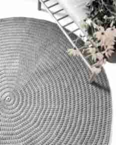 Okrągły dywan ze sznurka 150 cm dom pule sznurka, bawełniany