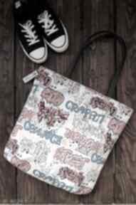 Wodoodporna torba na ramię xl - graffiti happyart torba
