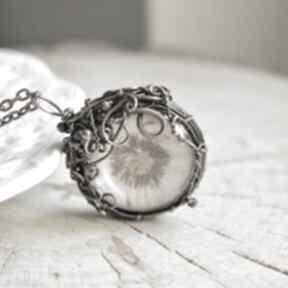 Dandelion - naszyjnik z dmuchawcem w szkle naszyjniki pracownia