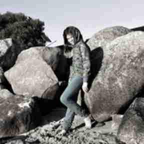 Dres dla dziewczynki 146 -158 cm - pawie pióra mimi monster