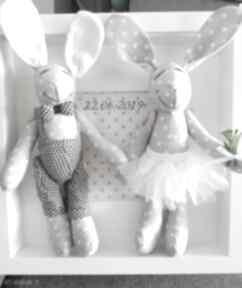 Króliki ślub prezent para młoda artshoplalashop króliki, ślub,