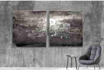 Śliwowy dyptyk - obraz na płótnie art and texture plotnie